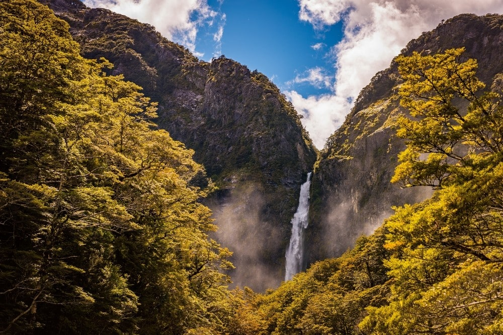 Best Time of Year to Go to New Zealand -Devils Punchbowl Falls