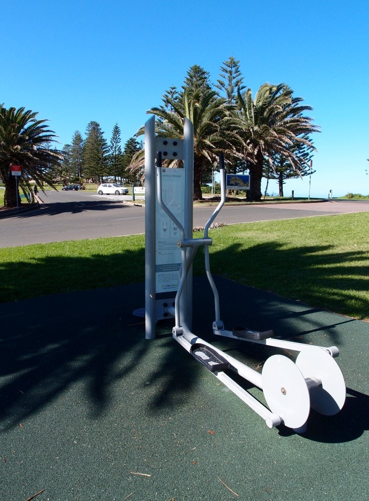 Kiama Blowhole exercise bike in the park