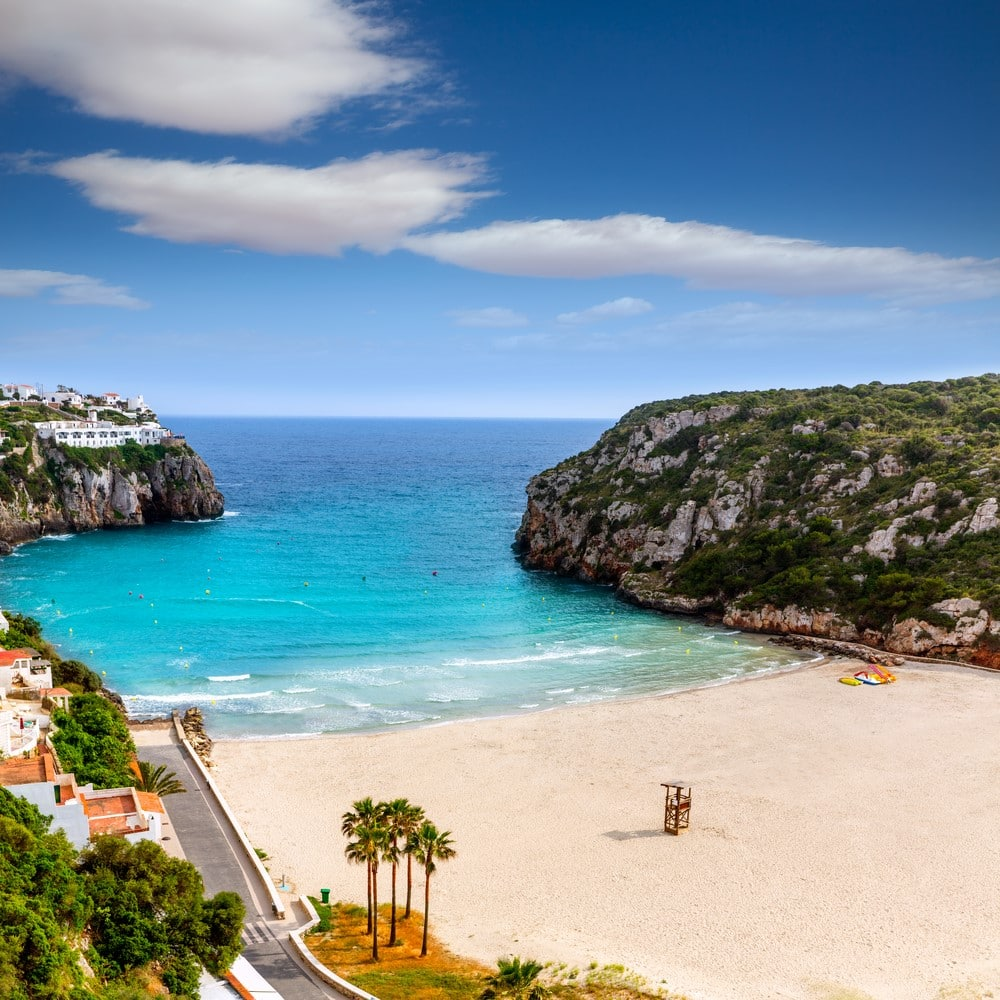 Cala En Porter beach in Menorca Spain