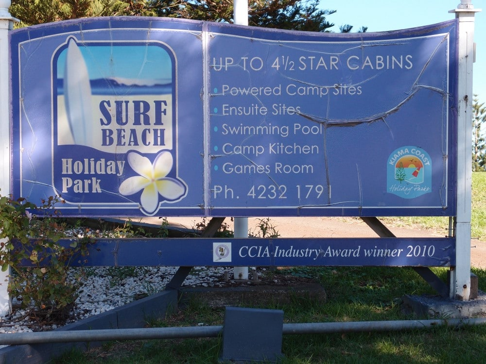 Kiama Surf Beach Holiday Park offers cabins and caravan accommodation