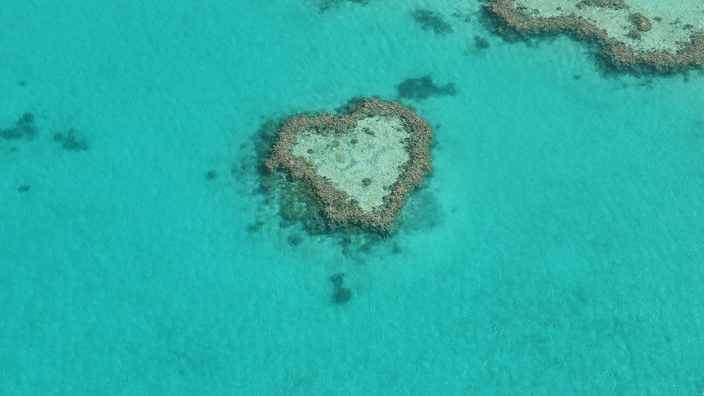 Most romantic places Heart Reef, Australia