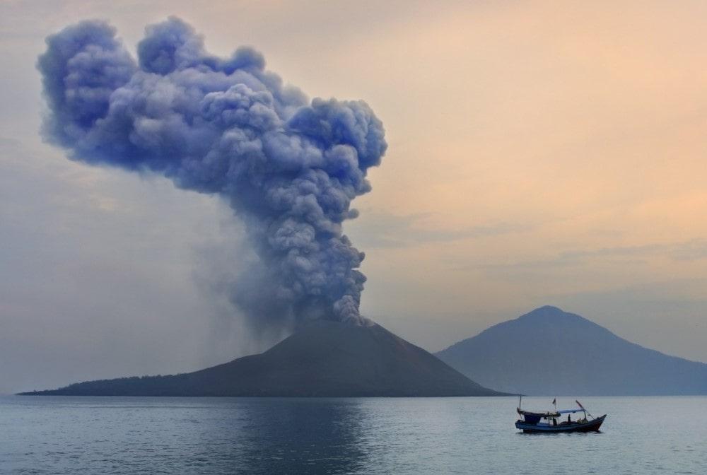 Mind-blowing volcanoes Krakatoa, Indonesia