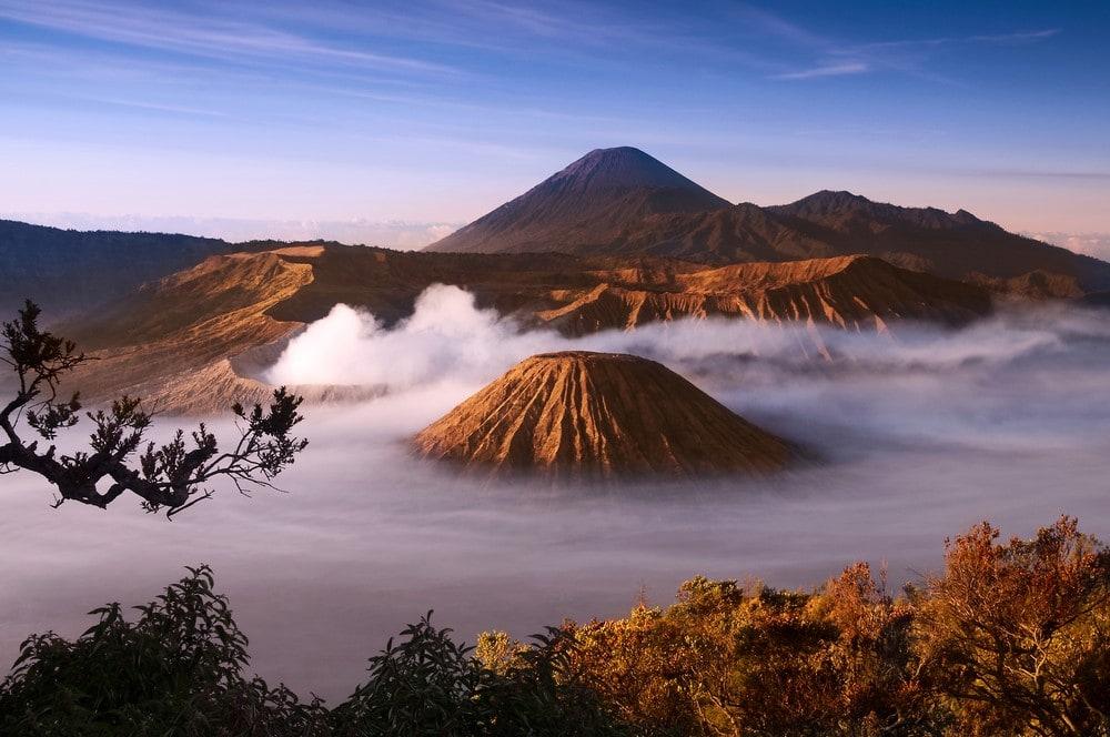 Mind-blowing volcanoes Mount Bromo and Mount Semeru, Indonesia