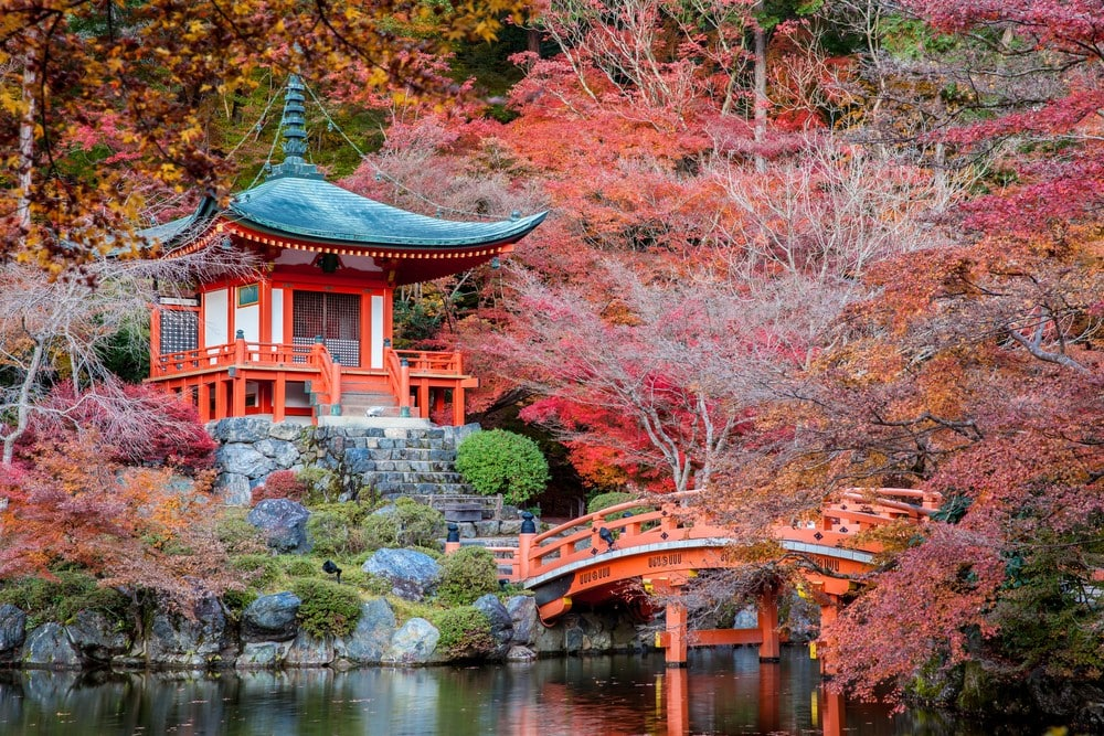 Most romantic places The gardens of Kyoto, Japan