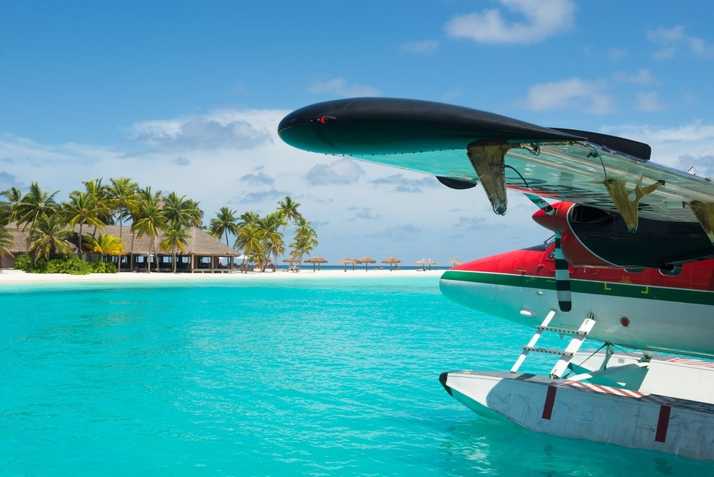 Activities and attractions on the Maldives Take a sea plane