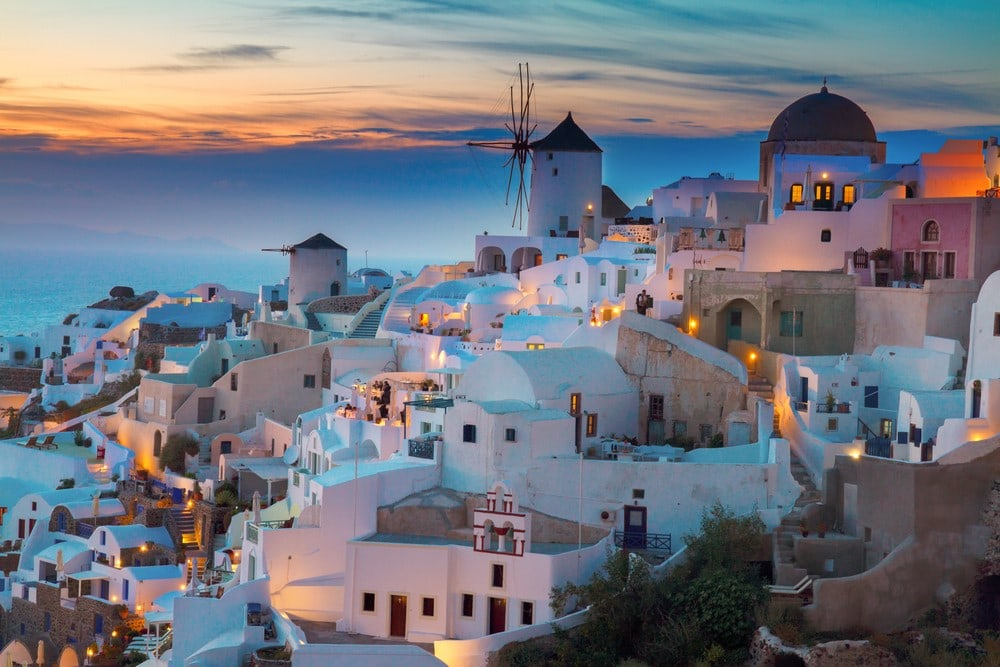 Most romantic places Greek Isles