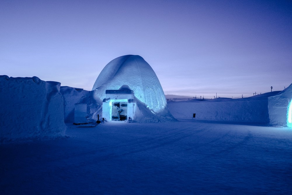 Most romantic places Ice Hotel in Jukkasjärvi, Sweden