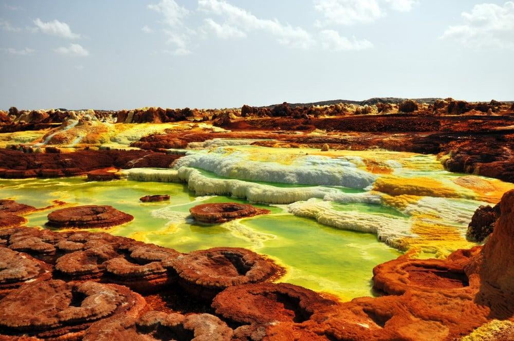 Warmest destinations Dallol, Ethiopia