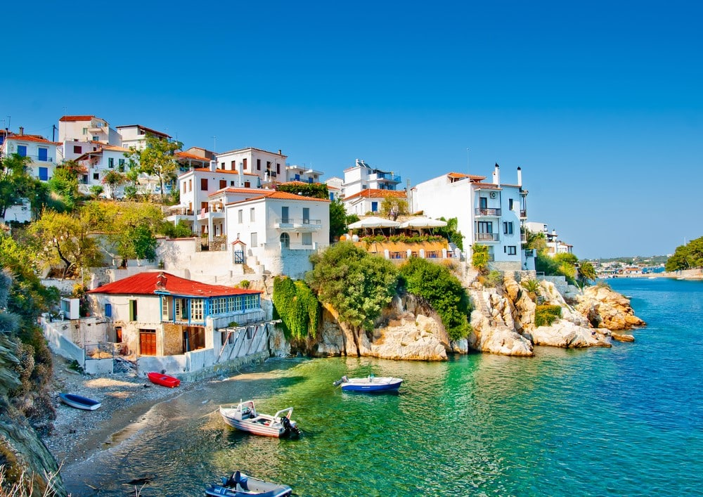 Destinations from films and TV Skiathos, Greece