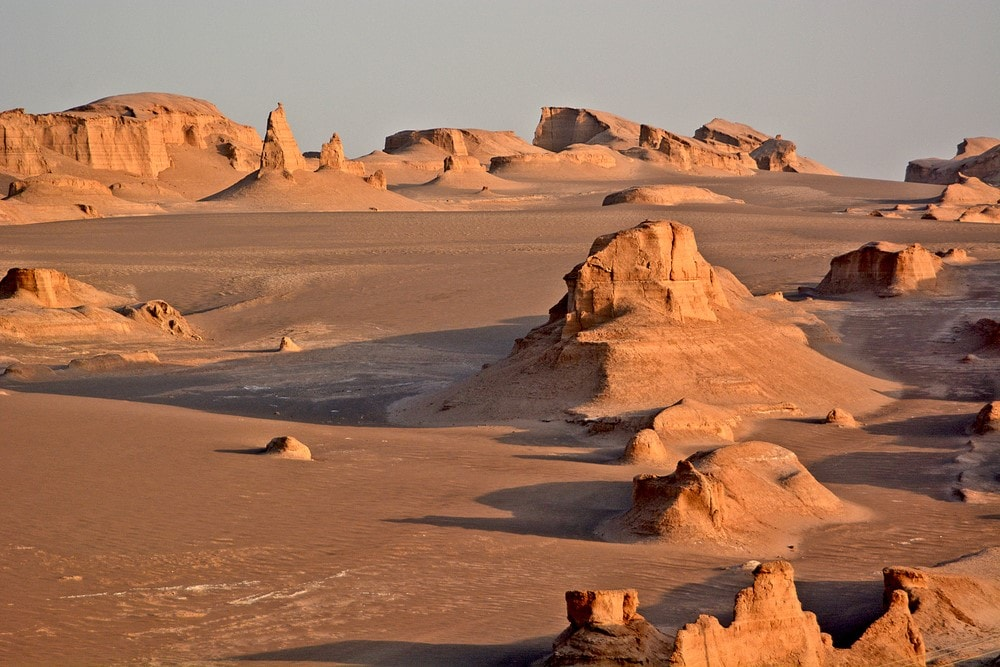 Warmest destinations Lut Desert, Iran