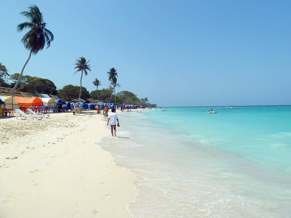 Playa Blanca in Columbia