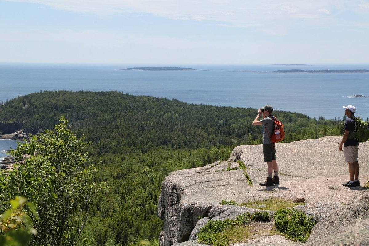 Hikers at Acadia National Park