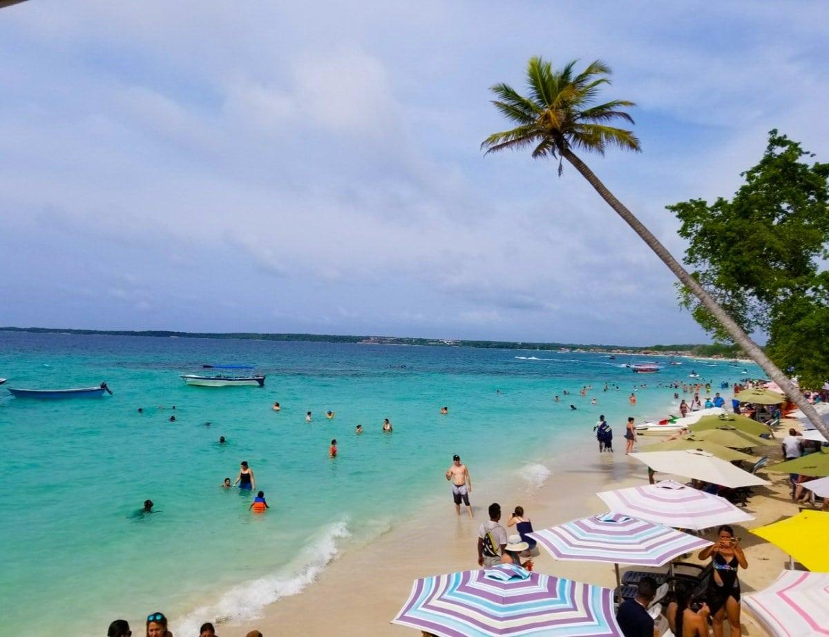 People on the Beach in Isla Baru