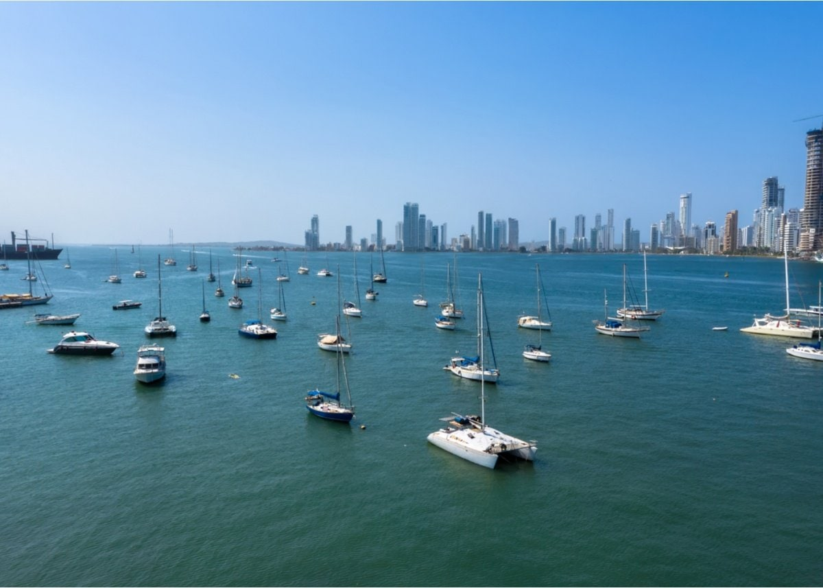 Boats in Cartagena Colombia